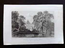 W. H. Ireland 1830 Antique Print. Foot's Cray Place, Kent, Seat of Lord Bexley